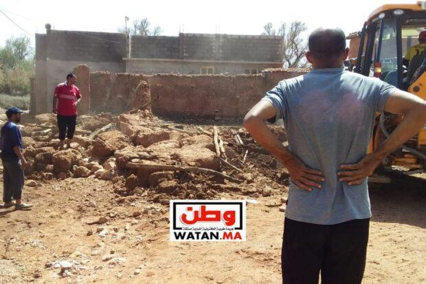 تارودانت…فيضانات تضرب بقوة منطقة سيدي واعزيز والساكنة تستغيث وتطلب المساعدة