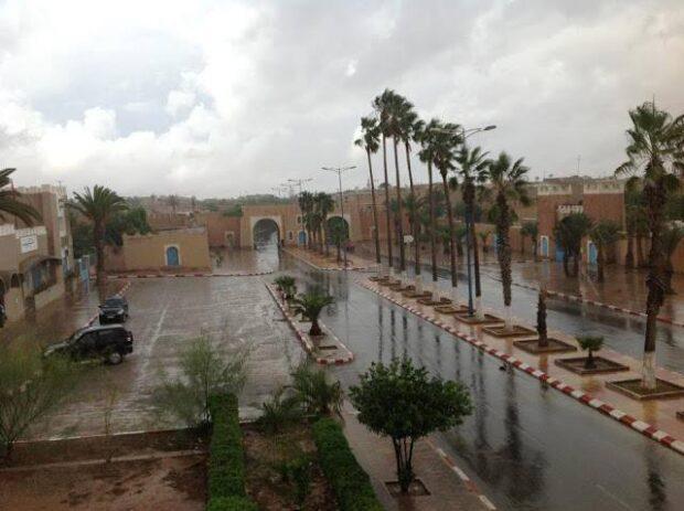 نشرة اندارية …تساقطات مطرية مهمة تهم منطقة سوس وتيزنيت