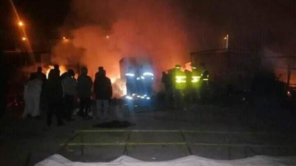 فاجعة … مصرع شخص في حريق جراء انفجار قنينتي غاز بسوق بلفاع