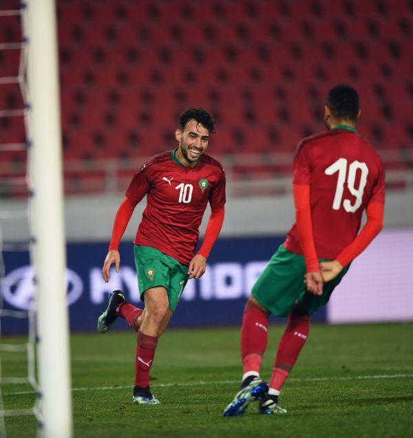منير الحدادي يُسجل أول هدف دولي له بقميص المنتخب الوطني المغربي