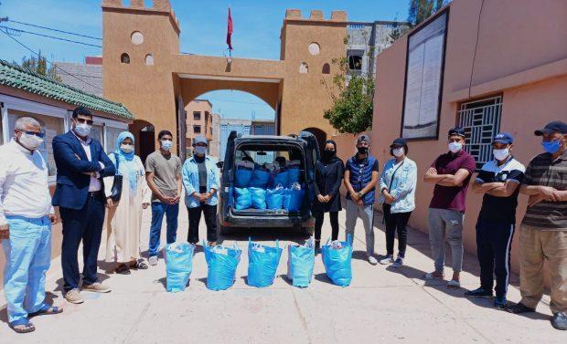 تارودانت…توزيع ما مجموعه 176 قفة تضامنية على المحتاجين بقيادة سيدي موسى الحمري