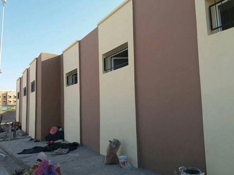 تزنيت : بالصور انتهاء أشغال بناء مستودعات الملاعب الملحقة لقاعة الرياضات اناروز
