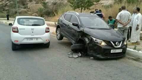 تافراوت : حادثة سير إثر اصطدام سيارتين خفيفتين